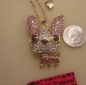 Jewelry - Betsey Johnson Chihuahua Puppy Necklace